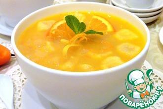 Десертный грушевый суп с клецками