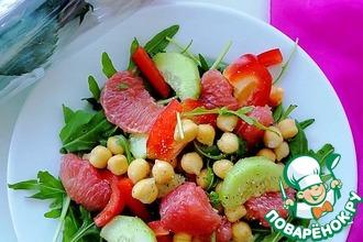 Салат с нутом и грейпфрутом