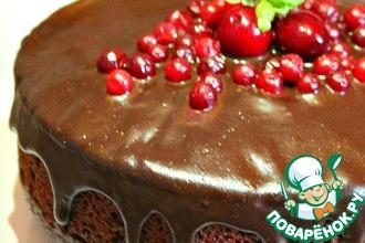 Постный шоколадно-кокосовый торт с орехами