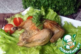 Цыплята-корнишоны в духовке