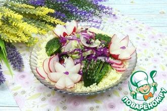 Весенний салат с кускусом
