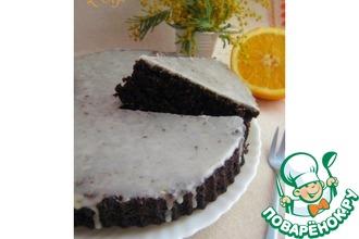Шоколадный пирог с апельсиновой глазурью