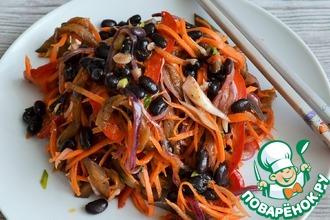Фасоль с овощами по-корейски