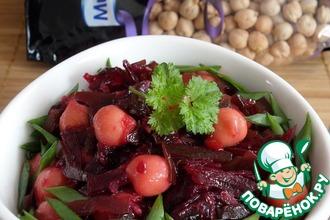 Острый овощной салат с нутом