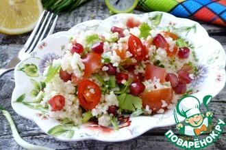 Салат из кускуса с черемшой