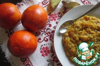 Кукурузная каша с апельсином и имбирем