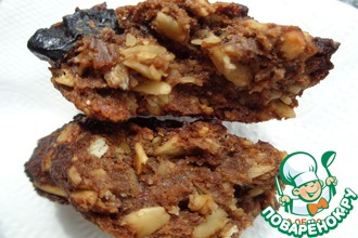 Овсяное печенье с арахисом и черносливом