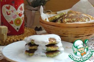 Оладьи с зеленью на завтрак