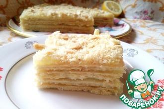 """Постный лимонный торт """"Наполеон"""""""