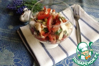 Овощной салат в стиле восьмидесятых