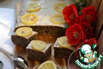 Маковый пирог с черносливом