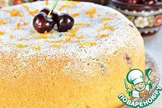Ягодный бисквитный пирог