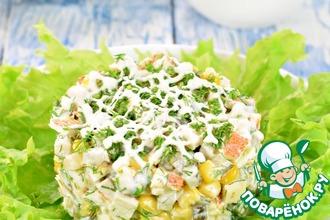 Салат с курицей и кукурузой
