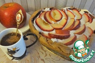 """Пирог яблочный с брусникой """"Провожаем осень"""""""