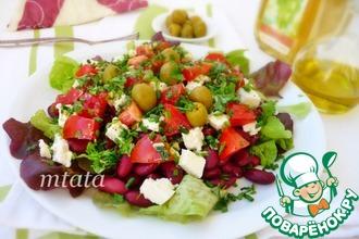 Салат из томатов и фасоли