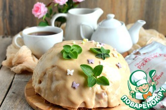 Торт из ряженки и овсяного печенья