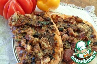 Пицца осенняя с копченостями