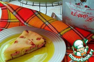Пирог с картофелем и сосисками