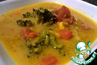 Сливочно-овощной суп карри
