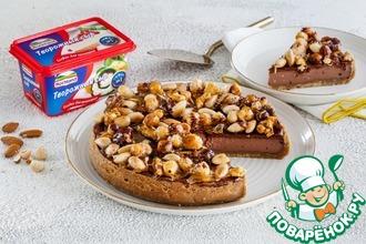 Шоколадный чизкейк с карамелизованными орехами