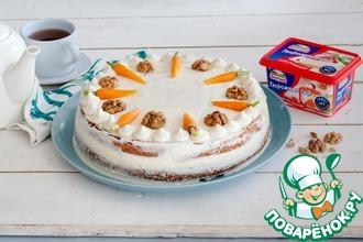 Морковный торт с сырной глазурью