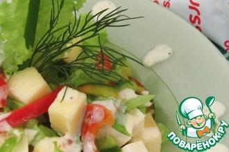 Овощной салат с заправкой из ряженки