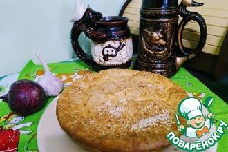 Пирог заливной с квашеной капустой