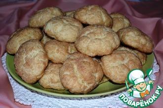 Творожное печенье с грушей и корицей