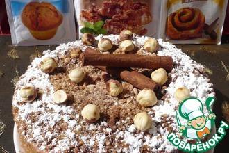 Пирог с корицей и лесными орехами