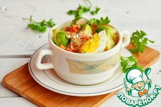 Густой суп-рагу с овсянкой и овощами