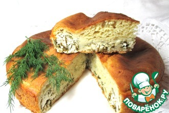 """Пирог с творогом и зеленью """"Аппетитный"""""""