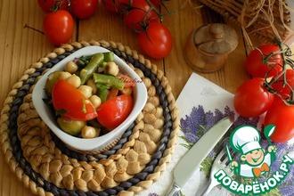 Салат с нутом и стручковой фасолью