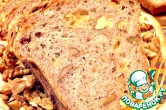 Хлеб пшеничный с сыром и орехами