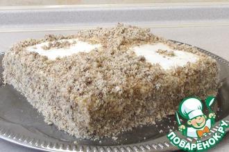 Торт без выпечки с яблочным кремом