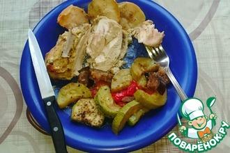Грудка куриная с овощами