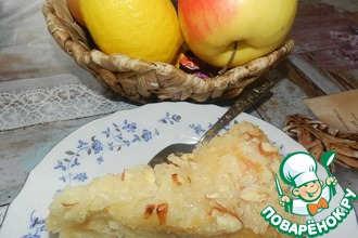 Яблочный пирог со штрейзелем