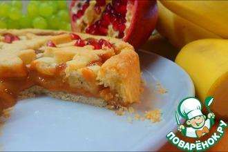 Пирог с бананом и вареной сгущенкой