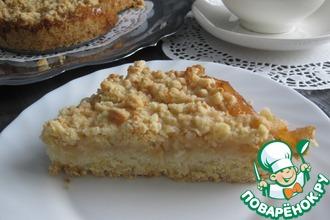 Яблочный пирог на сырном тесте