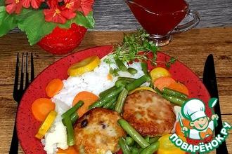Котлеты с лососем и овощами