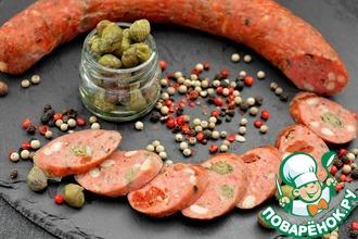 Колбаса с каперсами и вялеными томатами