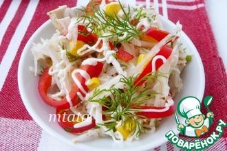 Салат из дайкона, индейки и кукурузы