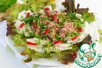 Салат из дайкона с тунцом
