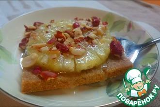 Сладкий ананасовый десерт из ржаной муки