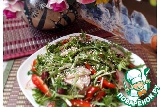 Салат с фасолью и гранатовой заправкой