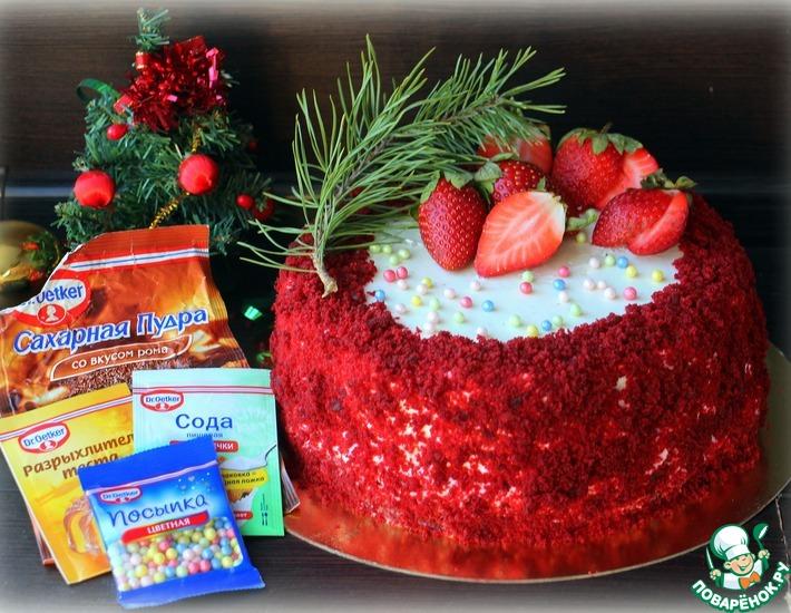 Рождественский торт с ромовым крем-чизом