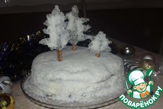 "Торт ""Заснеженный лес"""