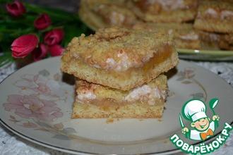 Тёртое пирожное с белково-грушевым кремом