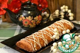 Пирог на белках с орехами и цукатами