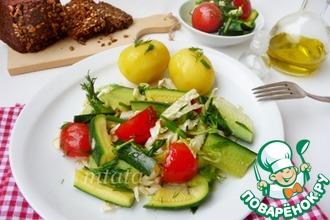 Салат из малосольных овощей с капустой