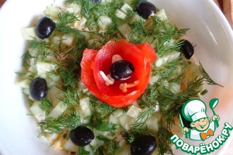 Слоёный салат с иваси